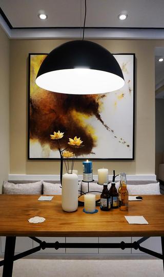 85㎡北欧风格装修餐厅背景墙图片