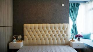 85㎡北欧风格装修床头软包图片