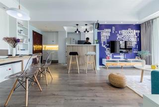 95平北欧风格家吧台设计