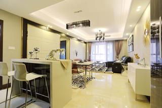 简约风格三居室装修吧台设计
