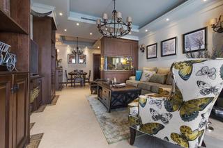 三居室美式风格装修客厅设计图