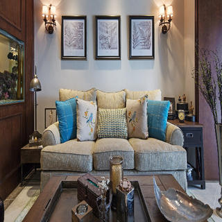 三居室美式风格装修 怀旧复古