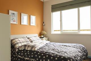 63平小户型之家卧室背景墙图片