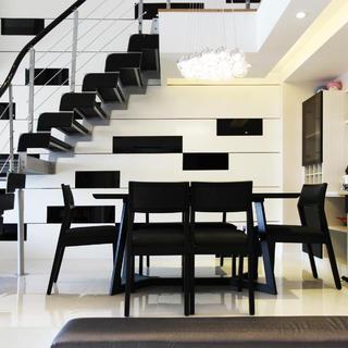 158平loft装修设计 黑白经典