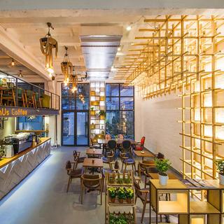 Loft风格咖啡馆装修设计图