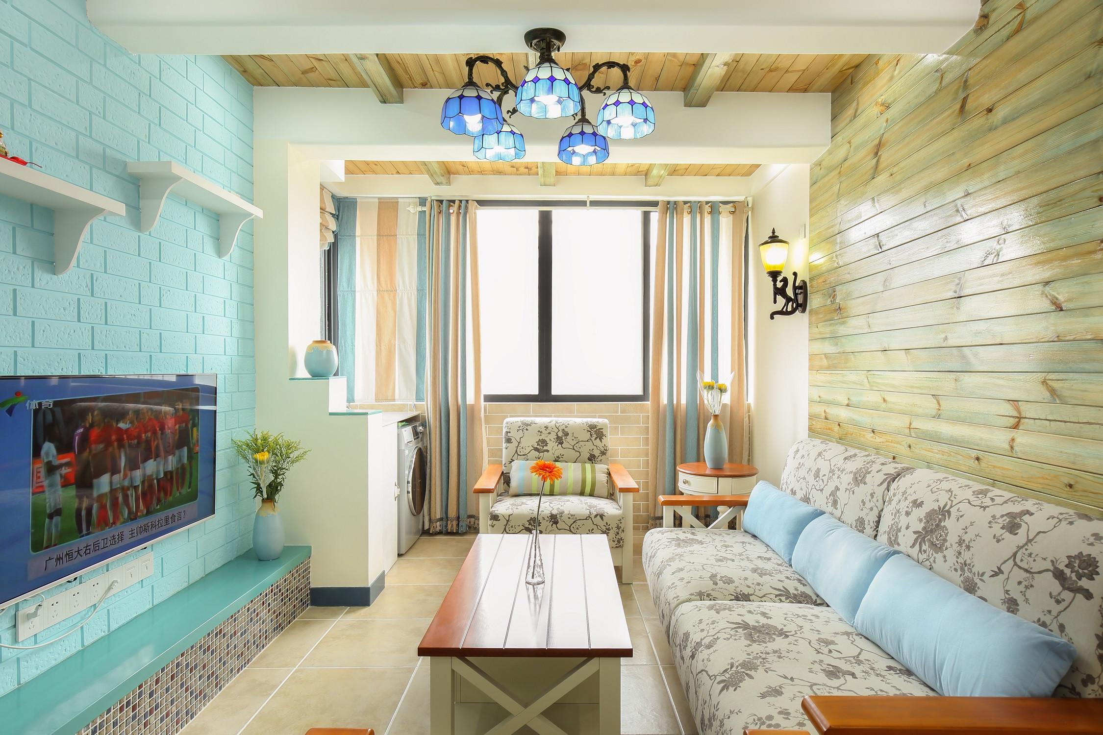 小户型地中海风格家客厅效果图