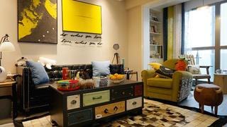 混搭风格二居装修沙发背景墙图片