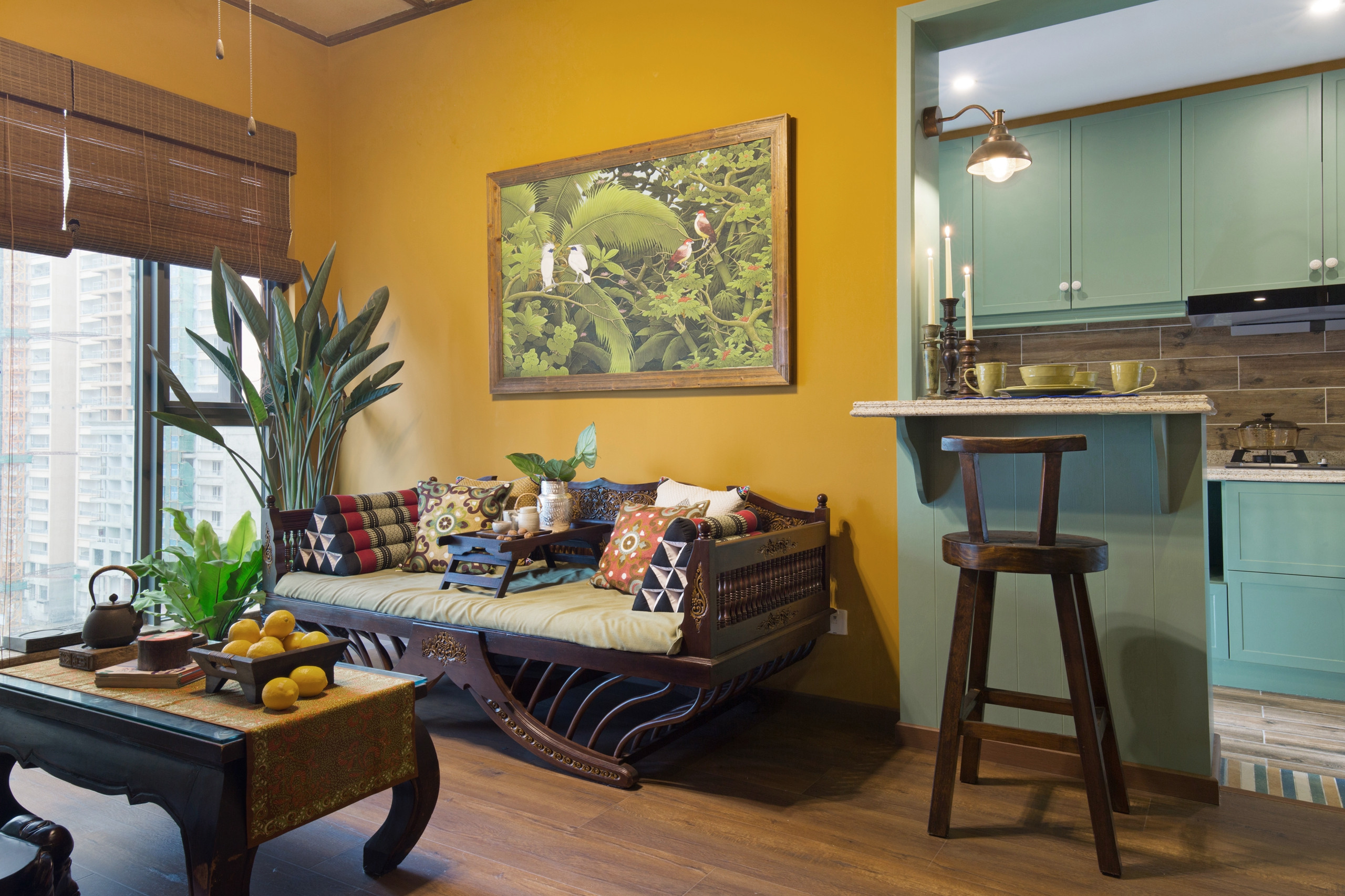 一居室小户型装修沙发背景墙图片