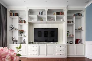 大户型美式风装修电视背景墙图片