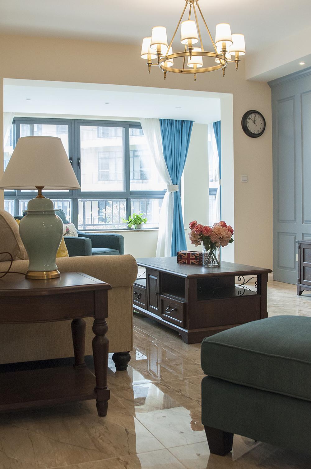 150平清新小美式装修窗帘图片