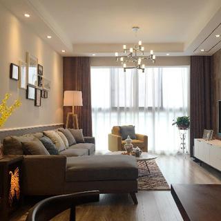 90平北欧风格二居装修实景图