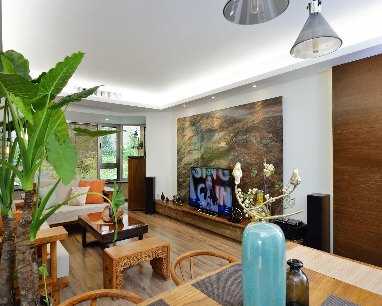 130平中式风格装修电视背景墙图片