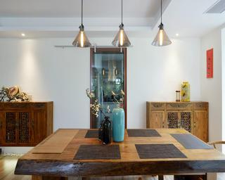 130平中式风格装修餐桌图片