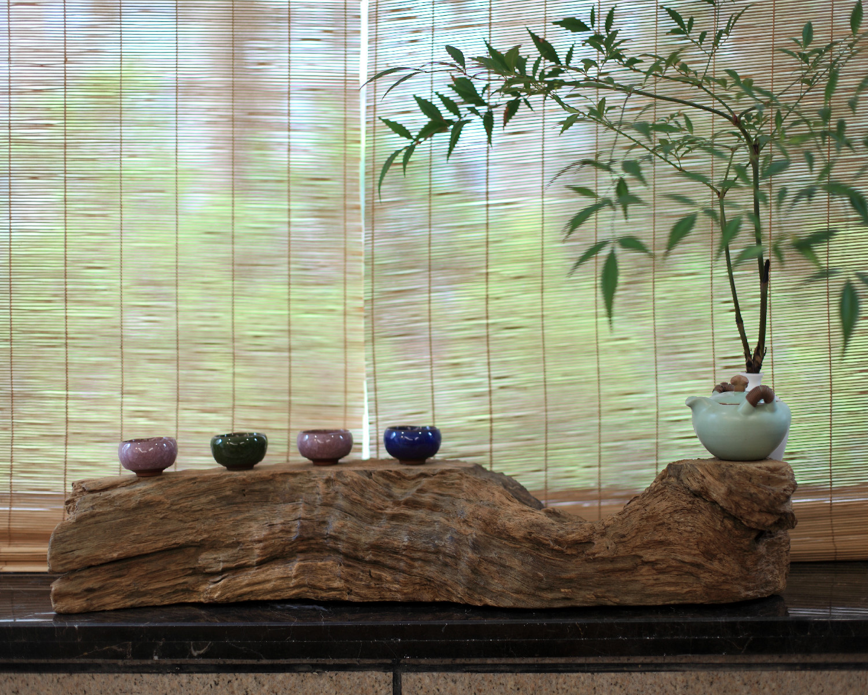 130平中式风格装修阳台小景