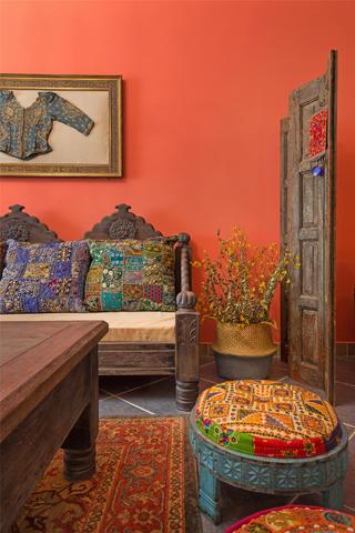 东南亚风格二居客厅一角