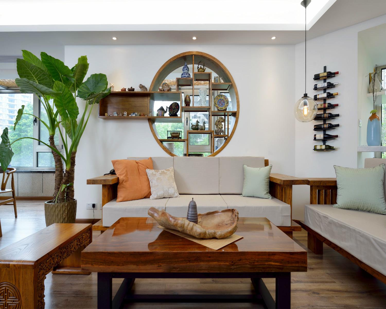 130平中式风格装修沙发图片