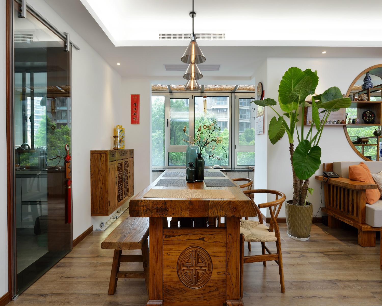 130平中式风格装修餐厅设计图