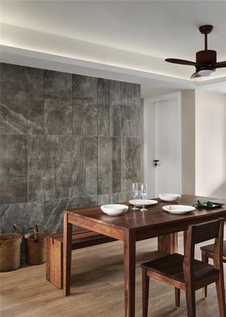 103平简约风格家餐厅背景墙图片
