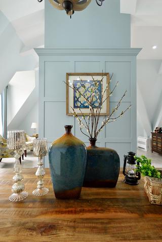 复式美式风格装修装饰花瓶图片