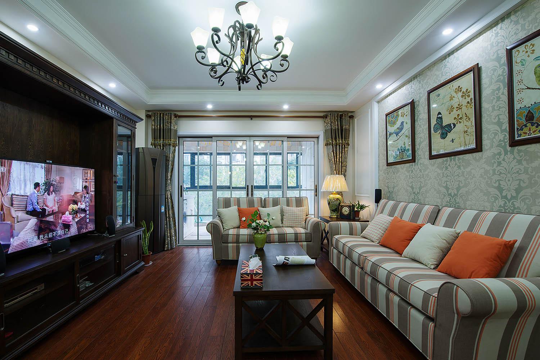 120平简美装修客厅效果图