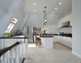 复式美式风格装修厨房构造图