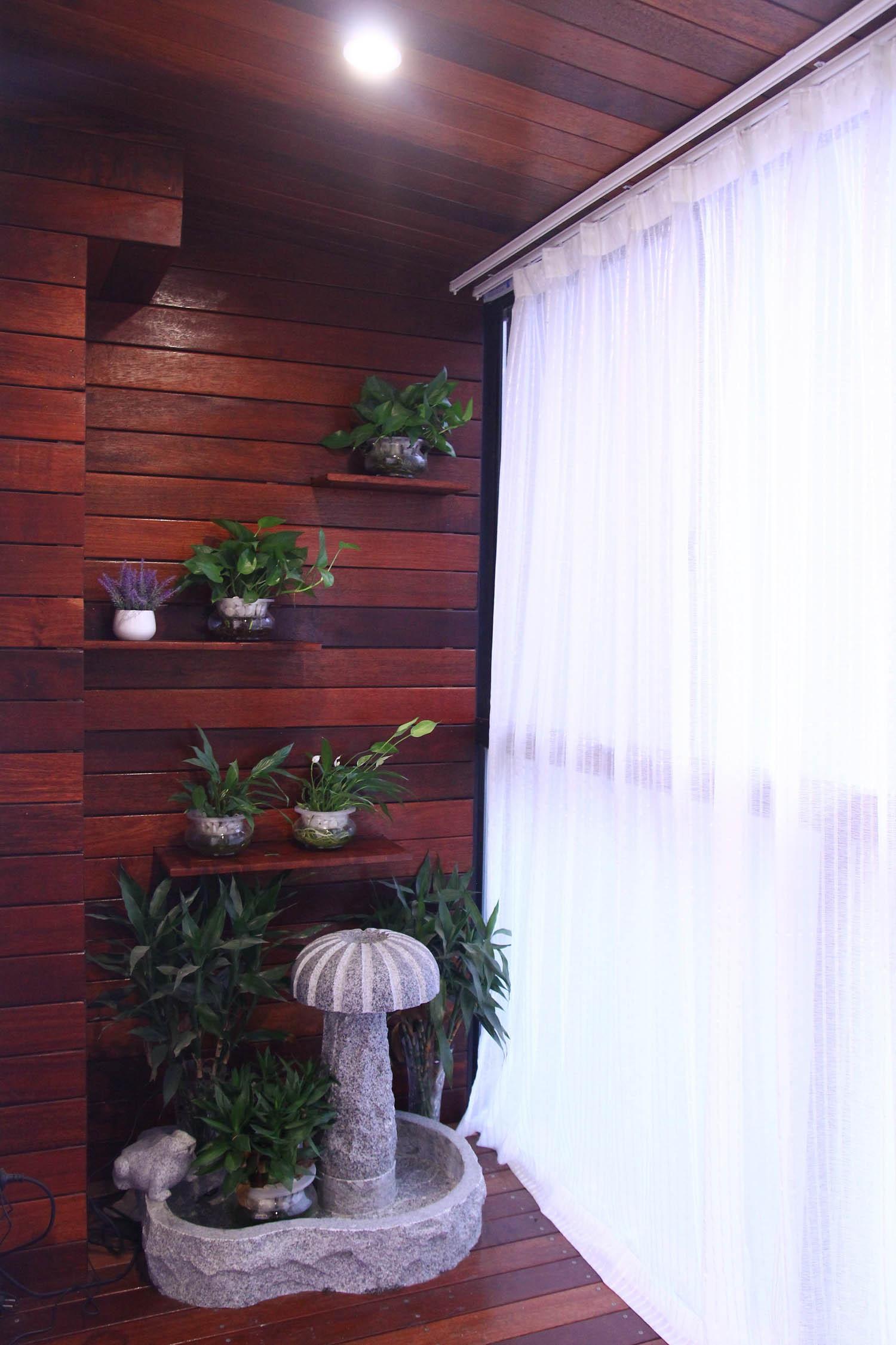 混搭风格三居装修阳台图片