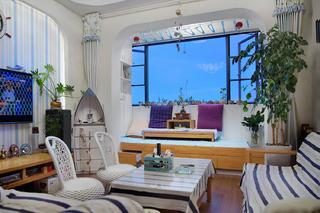 70平地中海风格家客厅设计图