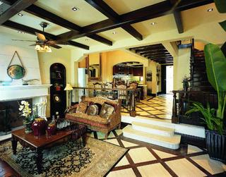 托斯卡纳风格别墅装修客厅设计图