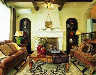 托斯卡纳风格别墅装修造型壁炉设计