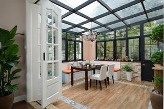 现代美式别墅装修阳光房布置图