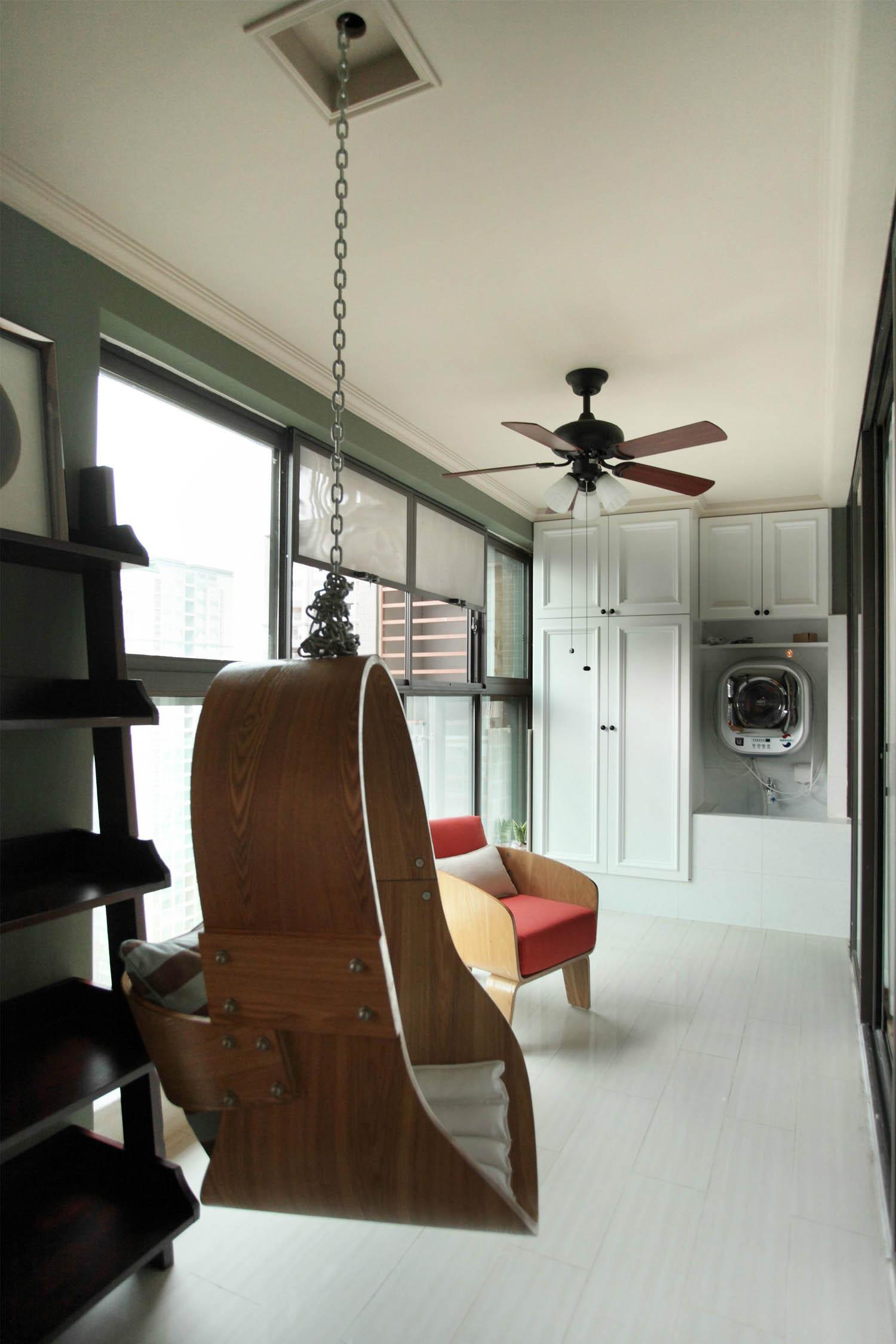 美式风格别墅装修阳台实景图