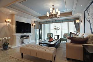 美式风格别墅装修客厅设计图