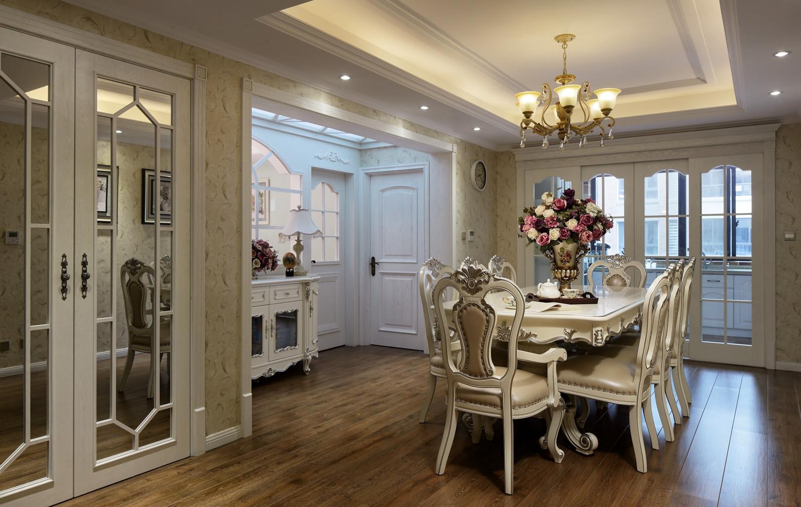 170平欧式装修餐厅效果图