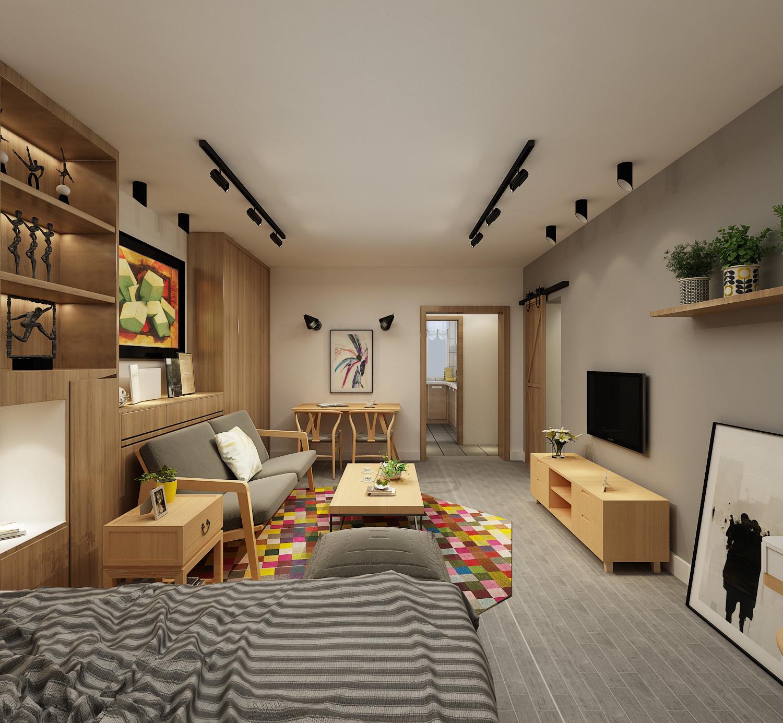北欧小户型装修客厅效果图
