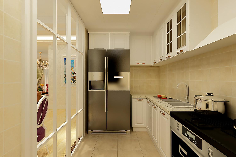 温馨简欧二居装修厨房构造图