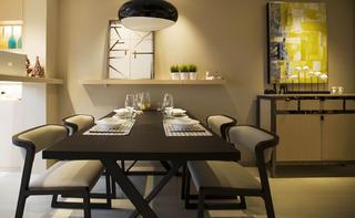 现代简约二居设计餐桌图片