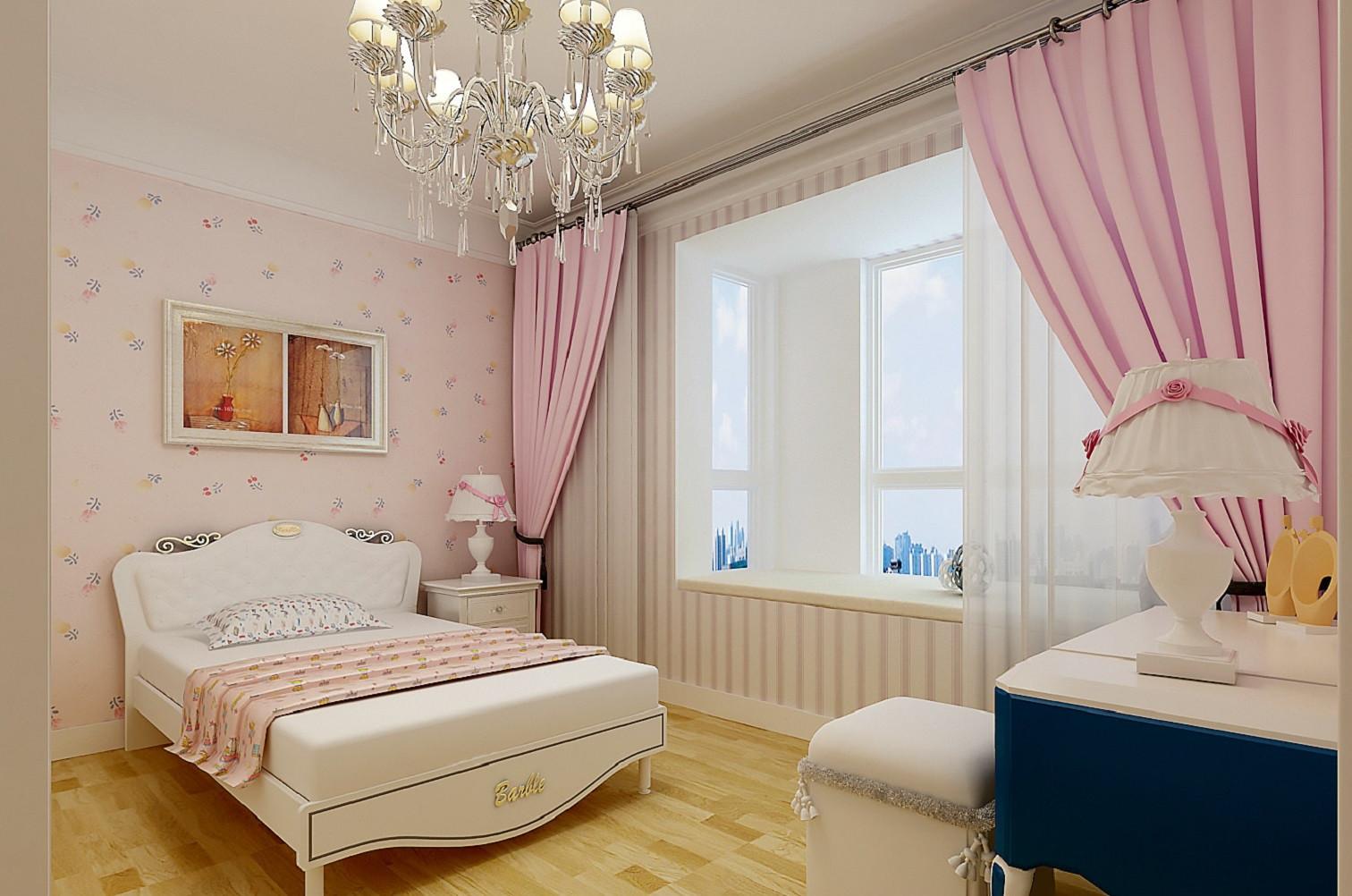 温馨简欧二居装修儿童房设计图