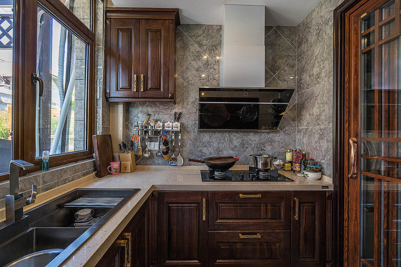 新中式风格别墅装修厨房设计图