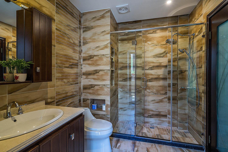 新中式风格别墅装修卫生间效果图