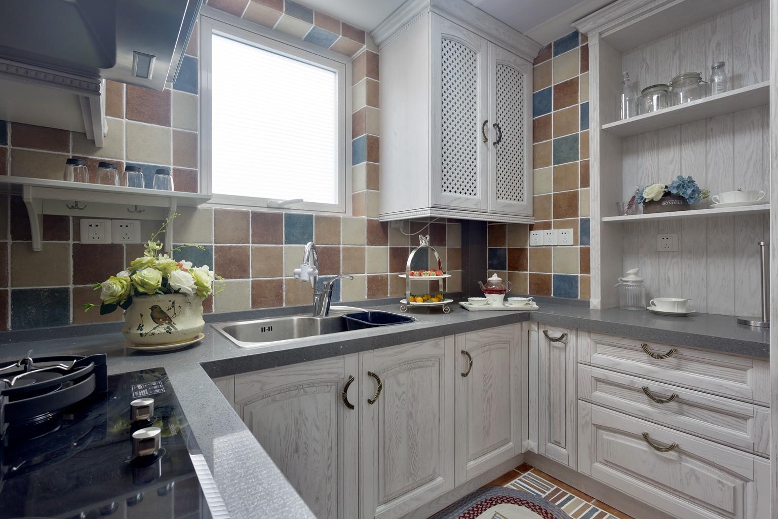美式复式装修厨房设计图