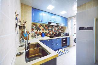 地中海风格三居厨房构造图