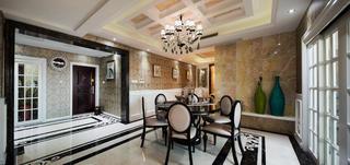 后现代风格别墅装修餐厅设计图