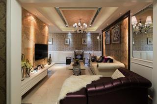 后现代风格别墅装修客厅设计图