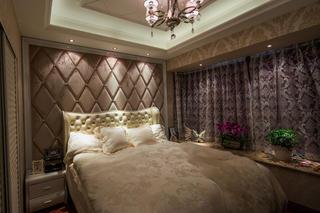 后现代风格别墅装修床头软包图片