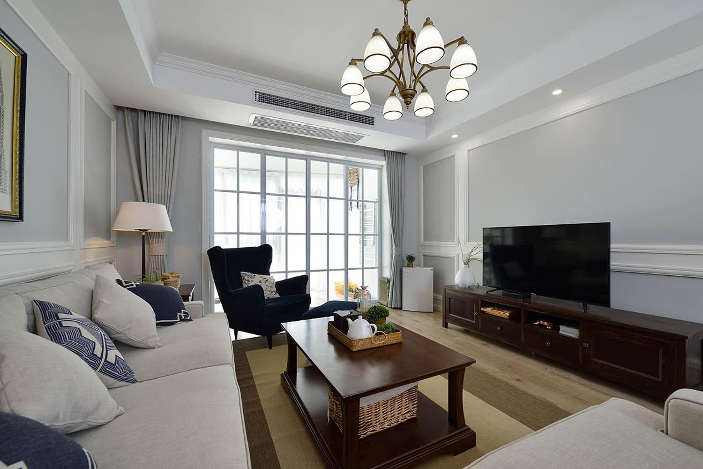 简美二居室装修客厅设计图