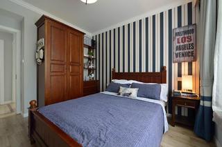 简美二居室装修卧室背景墙图片