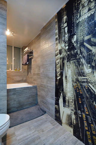 130平美式装修墙面装饰瓷砖图片