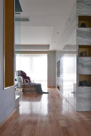90平极简主义二居装修过道图片