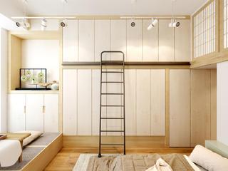 日式一居装修衣柜图片