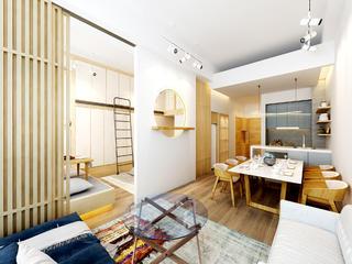 日式一居装修餐厅效果图